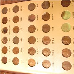 1909-1985 Nearly Complete Set of Lincoln Cents in a Dansco Album.  Almost every coin from 1936 up is