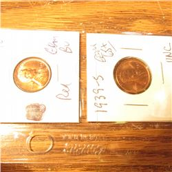 1936P, 39S, 41P, 42D, & 44P BU-Gem BU Lincoln Cents.