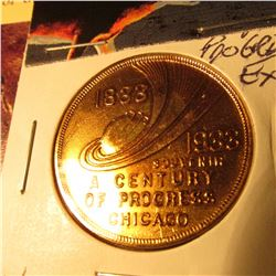 1933 Century of Progress Expo Coin Chicago CH.BU Nice Red Tone