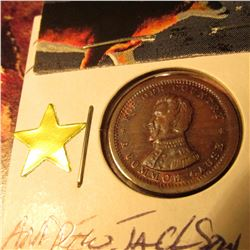 """1861-65 CWT """"For Our Country/Andrew Jackson"""" CH.BU w/Attractive Tone Very Scarce"""