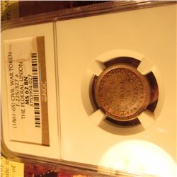 """1861-65 CWT """"The Federal Union"""" Attractive Tone NGC 62BN #3753994-027"""