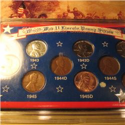 1940's {WWII} Date Cent Collection in Special Holder
