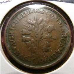 ND Agriculture & Commece, Montreal Un Sou Bank Token. VF.