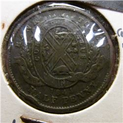 1844 Montreal Providence of Canada Penny Bank Token. F.