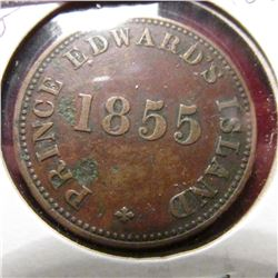 1855 Prince Edward Island Self Government and Free Trade Token. VF details.