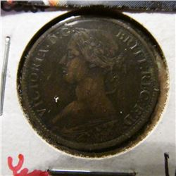 1861 Nova Scotia Half Cent. VF+. Two Year type. Mtg. 400,000.