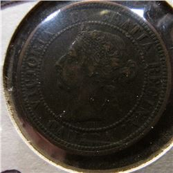 1890 H Canada Large Cent. VF-EF.