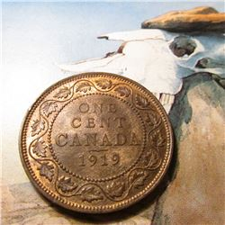 1919 Canada Large Cent. Red Brown BU.