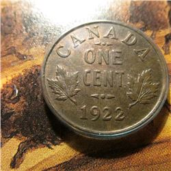1922 Canada Small Cent. Red-Brown Unc.