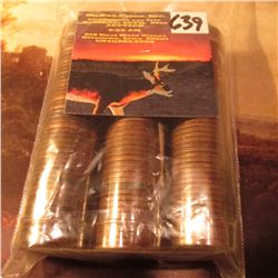 (3) Rolls of circulated Canada Cents 1937-43, 1943-46, & 1946-50. (150 coins total).