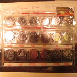 (2) Sets of (12) Millennium Canadian Quarters. All 12 different months.