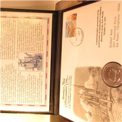 America's First Commemorative Coin Postmarked in the Bahamas in 2003.  1892 Columbian Exposition Com