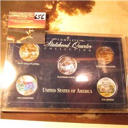 Iowa Statehood Quarter Collection 24K Gold plating; Holographic; Platinum Overlay; Gold-Highlighted;