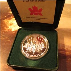 2000 Proof Canada Silver Dollar in original Royal Mint Case of Issue. Commemorates the Voyage of Dis