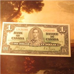 "January 2, 1937 ""Bank of Canada"" One Dollar Banknote. Crisp Unc."