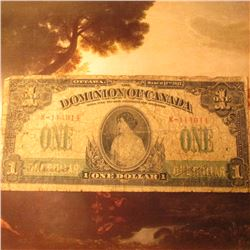 "March 17th, 1917 ""The Dominion of Canada"" One Dollar Banknote. Good."