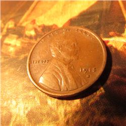 1915 S Lincoln Cent. VF+.