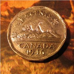 1946/6 Canada 5 Cents. VF+.