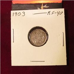 1903 Canada Five Cent Silver. EF. Cat. Val. $50.00.