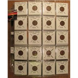 Lincoln Year Set in Plastic pages 1910 thru 1940. 32 coins. Includes a 1922 D. Red Book value $42.50