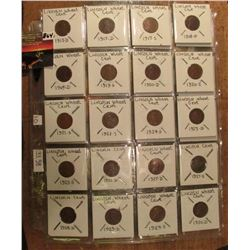 Lincoln Cents in Plastic pages including: 1913D, 17D, S, 18D, 19D, S, 20D, S, 21S, 23S, 24S, 25D, S,