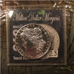 1895 P Morgan Dollar Tribute Proof. Marked Copy.
