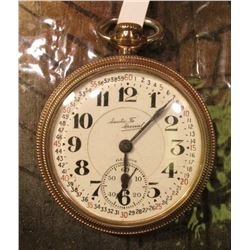 Illinois Watch Company. Santa Fe Special 21 Jewel Men's Pocket Watch. Scroll engraved initials on re