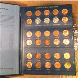 1941-75 Complete Set of BU to Gem BU Lincoln Cents in a Whitman Album. (90 pcs.).