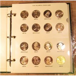 Sacagawea Littleton Coin Album with 41 dollar coins. Many are Proofs. Some maybe duplicates.