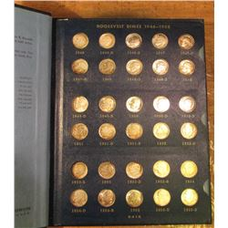 1946-65 Complete Set of Roosevelt Dimes in a Whitman Album. Many BU including the 1949P, D, & S. (50
