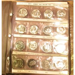 1964-81 Partial Set of Kennedy Half Dollars in a Coinmaster Album. Some PVC toning. Includes the 197
