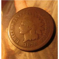 1870 Indian Head Cent. Good condition. Red Book value $55.00.