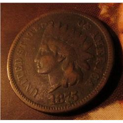 1875 Indian Head Cent. Very Good condition. Red Book value $35.00.
