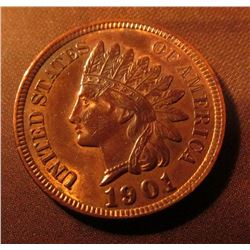 1901 Indian Head Cent. Mostly red Almost Uncirculated.