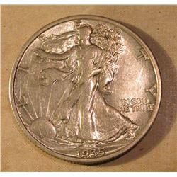 1935 P Walking Liberty Half Dollar. EF.