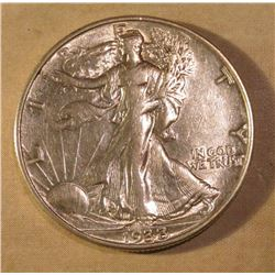 1938 P Walking Liberty Half Dollar. EF-AU.