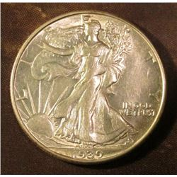 1939 D Walking Liberty Half Dollar. EF.