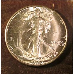 1947 D Walking Liberty Half Dollar. Gem BU. Red book value $60.00.