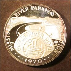 1970 Mississippi River Parkway Foundation Silver Proof Medallion. Serial # 3522.