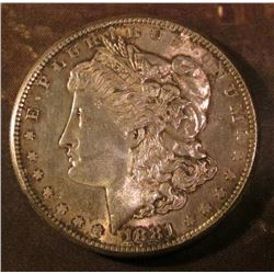 1881 S Morgan Silver Dollar. Brilliant light gray Uncirculated.