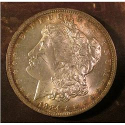 1884 New Orleans Mint Morgan Silver Dollar. Brilliant Uncirculated.