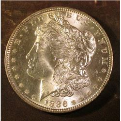 1886 P Morgan Silver Dollar. Brilliant Uncirculated.