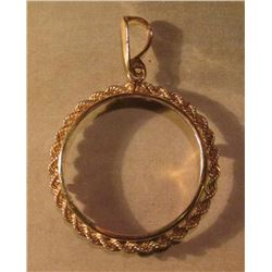 14K Gold Rope Bezel for a One Ounce Canada Maple Leaf. New condition and originally priced $275.00.