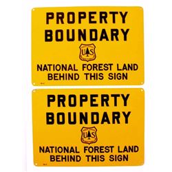 USFS National Forest Property Boundary Signs