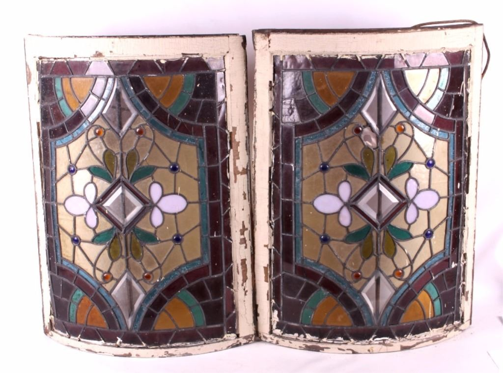Antique Curved Stained Glass Windows