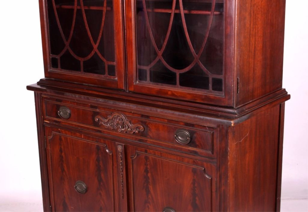Exceptionnel ... Image 3 : Antique 1930u0027s Mahogany China Cabinet ...
