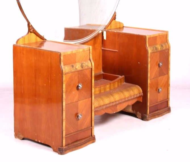 ... Image 5 : Antique Waterfall Vanity with Mirror ... - Antique Waterfall Vanity With Mirror