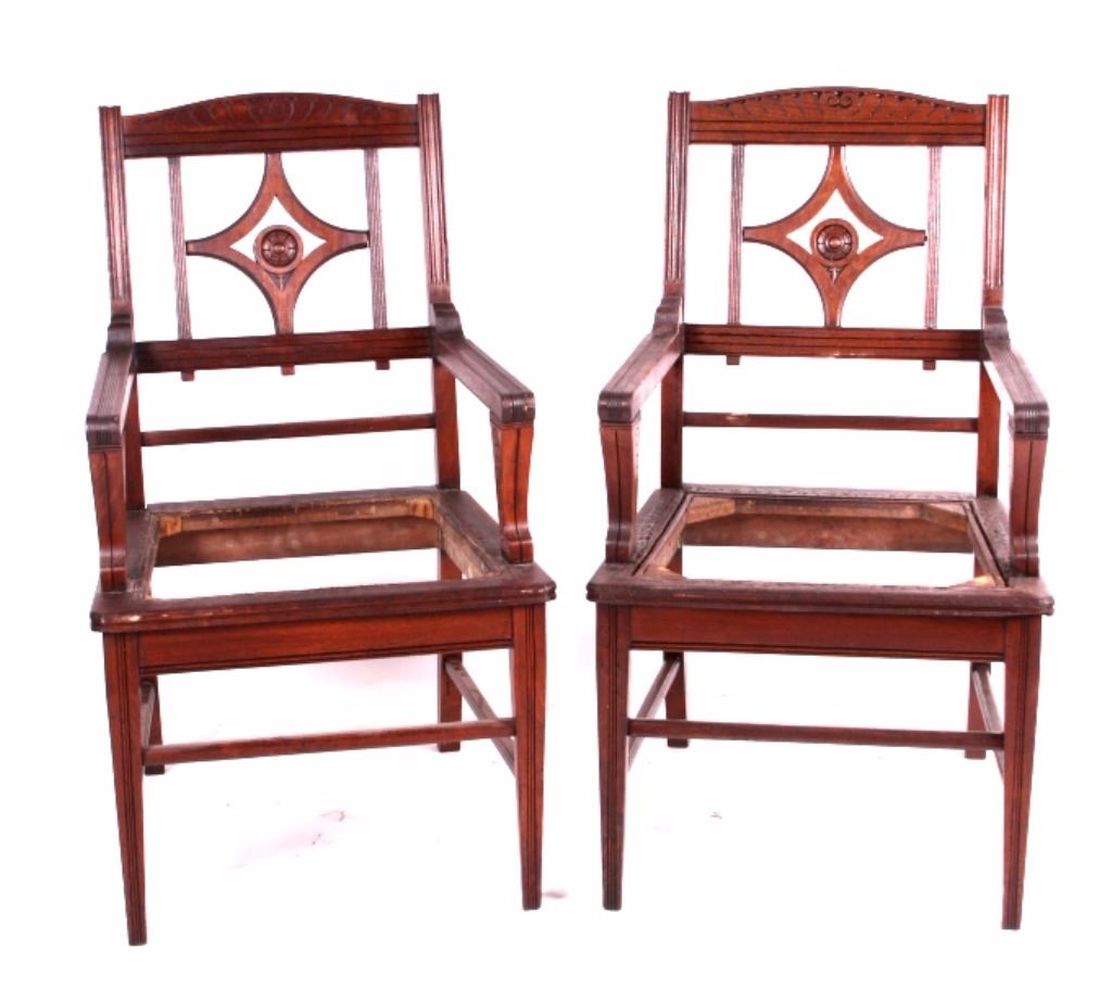 Carved wooden captain 39 s chairs for Carved wooden chaise