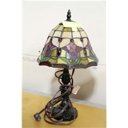 SMALL TIFFANY STYLE SIDE LAMP
