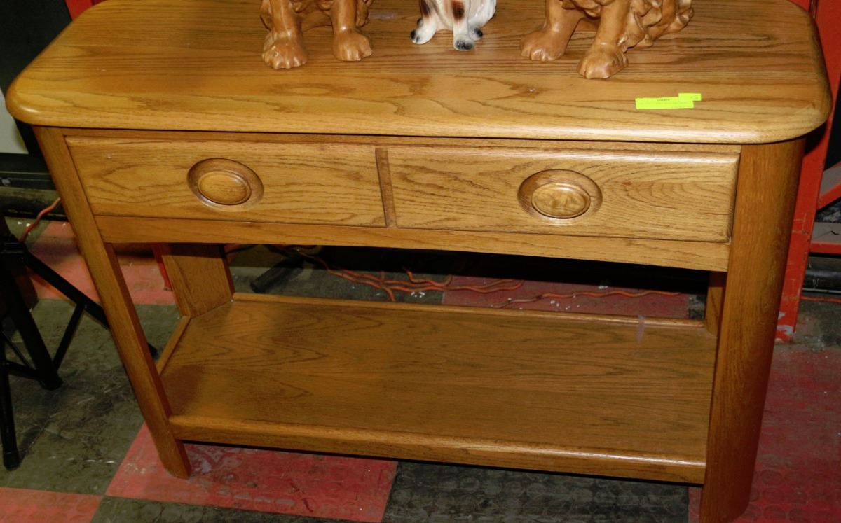 Oak sofa table with drawers kastner auctions